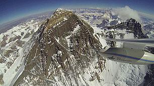 Flug am Mount Everest