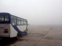 Nebel und dichte Wolken verzögern den Start in Nepal