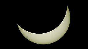 Maximale Bedeckung der Sonne am 20. März 2015
