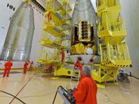 Die Einbindung der vier Kommunikationssatelliten