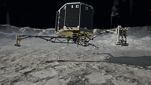 Philae landet auf dem Kometen
