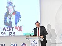 Jan Woerner, ISS Symposium 2012, Berlin. Bild: ESA, J. Mai.