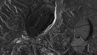 Chile, Atacama%2dWüste, Kupfermine Chuquicamata %2d Das größte von Menschen geschaffene Loch der Erde im Radarblick