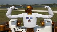 Der Robonaut R2 vor seinem Aufbruch zur ISS