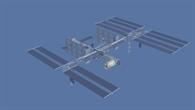 Das Columbus%2dLabor auf der ISS, künstlerische Darstellung