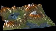 Digitales Höhenmodell aus TanDEM%2dX Satellitendaten: Der Aracar Vulkan im chilenisch%2dargentinischem Grenzgebiet