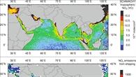 Erhöhte Stickoxid%2dKonzentrationen entlang der Hauptschiffahrtsroute zwischen der Südspitze Indiens und Indonesien