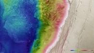 Topographische HRSC%2dBildkarte eines Ausschnitts von Ius Chasma