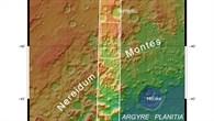 Topographische Übersichtskarte eines Teils der Nereidum Montes