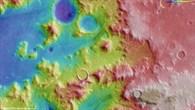Topographische Karte eines Teils der Nereidum Montes (HRSC%2dGeländedaten)