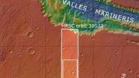 Topographische Übersichtskarte der Region Melas Dorsa
