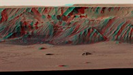 Valles Marineris %2d perspektivische Farbanaglyphe