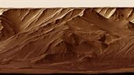 Valles Marineris – orthographische Frontalperspektive