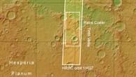 Topographische Übersichtskarte des Nordostens von Hesperia Planum