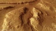 Perspektivischer Blick auf ein Gebiet westlich des Kraters Moreux