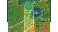 Topographische Übersichtskarte des Ostteils von Ismeniae Fossae
