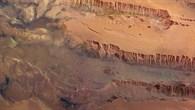 Blick auf das Valles Marineris auf dem Mars - den größten Canyon unseres Sonnensystems