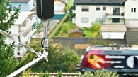 Aufnahme von Verkehrslärm an einer Zugstrecke