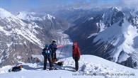 Lager II mit den Bergen nördlich des K2 oberhalb des Shaksgam Tals