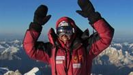 Die österreichische Alpinistin Gerlinde Kaltenbrunner auf dem Gipfel des K2.