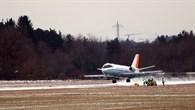Landung auf dem Flugplatz Schleißheim