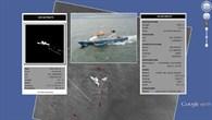 Lagebild bestehend aus TerraSAR%2dX Schiffsdetektionen und AIS Daten (Automatisches IdentifiaktionsSystem)