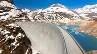 Emosson Staudamm bei Chatelard in der Schweiz