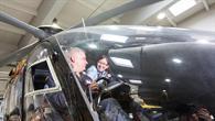 Im Cockpit des DLR%2dForschungshubschraubers EC%2d135 ACT/FHS