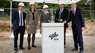 Ideen bekommen neuen Raum %2d Grundsteinlegung für das neue Gebäude H am DLR%2dStandort Stuttgart