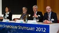 Podiumsteilnehmer des ersten EnergieSpeicherSymposiums des DLR Stuttgart