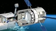 Schnitt durch das ATV angedockt an die ISS