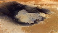 A mountain of sulphurous sediments in Becquerel Crater