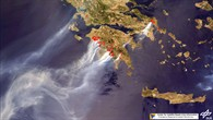 Forest fires in Greece, 2007.