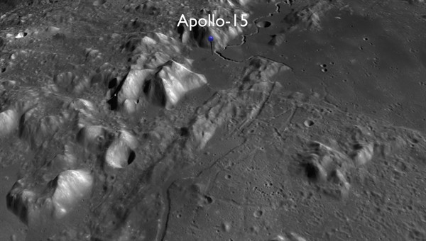 Apollo 15 landing site (Credit: NASA / GSFC / ASU / DLR)