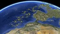 Flugzeug%2dOrtung über Großbritannien