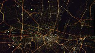 München bei Nacht %2d Aufnahme der DLR 3K%2dKamera