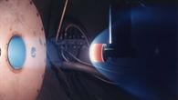 Modell in simulierter Marsatmosphäre