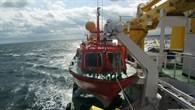 Rettungsbeiboot auf hoher See