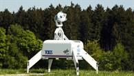 Die transportable optische Bodenstation bereit zum Empfang
